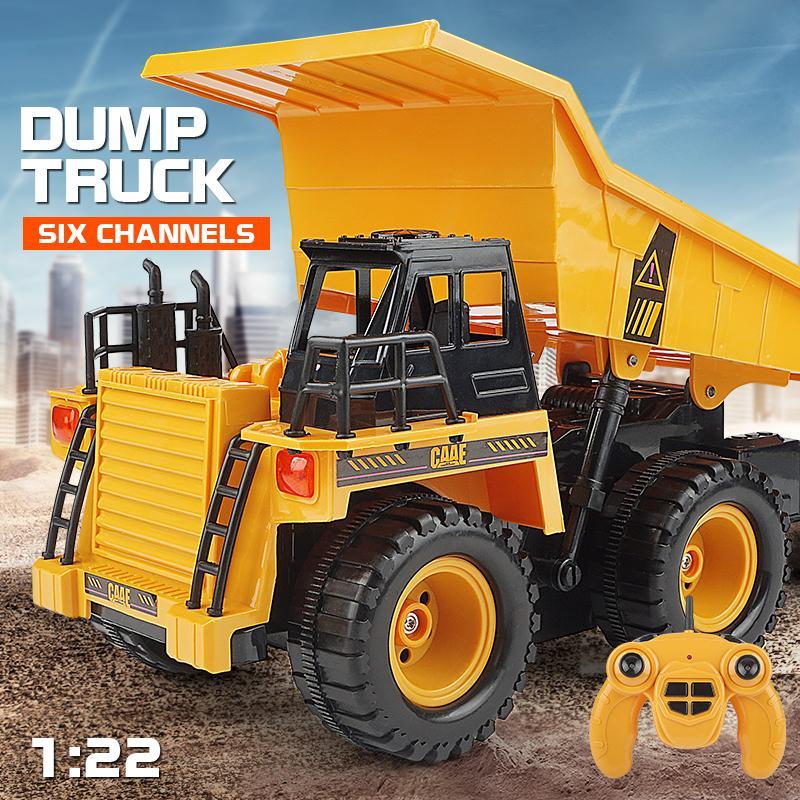 k01 Huina 1540 liga de 6 canais veículo de engenharia 2.4G elétrica controle remoto modelo de caminhão de lixo presente véspera de Natal das crianças