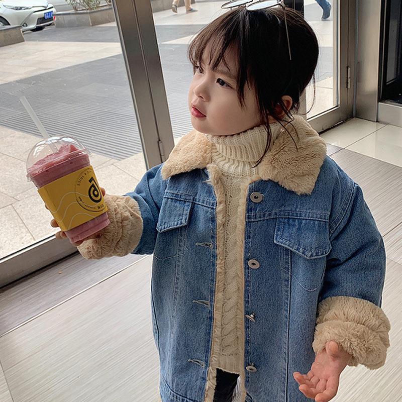 2019 cabritos cubren abrigos y chaquetas de primavera otoño niños ocasional ropa Trajes Y200901 Nueva niña del muchacho suave Denim
