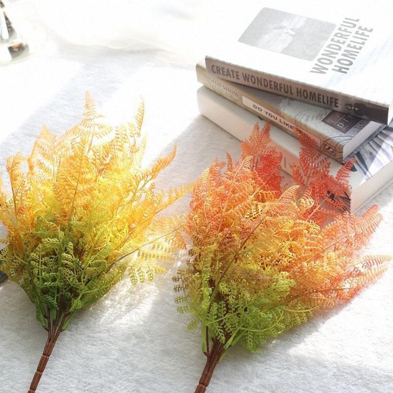 Simulazione Fern Leaf artificiale mazzo di felce Verde Impianto Home Decoration Decorative Plant Crafts eNTM #