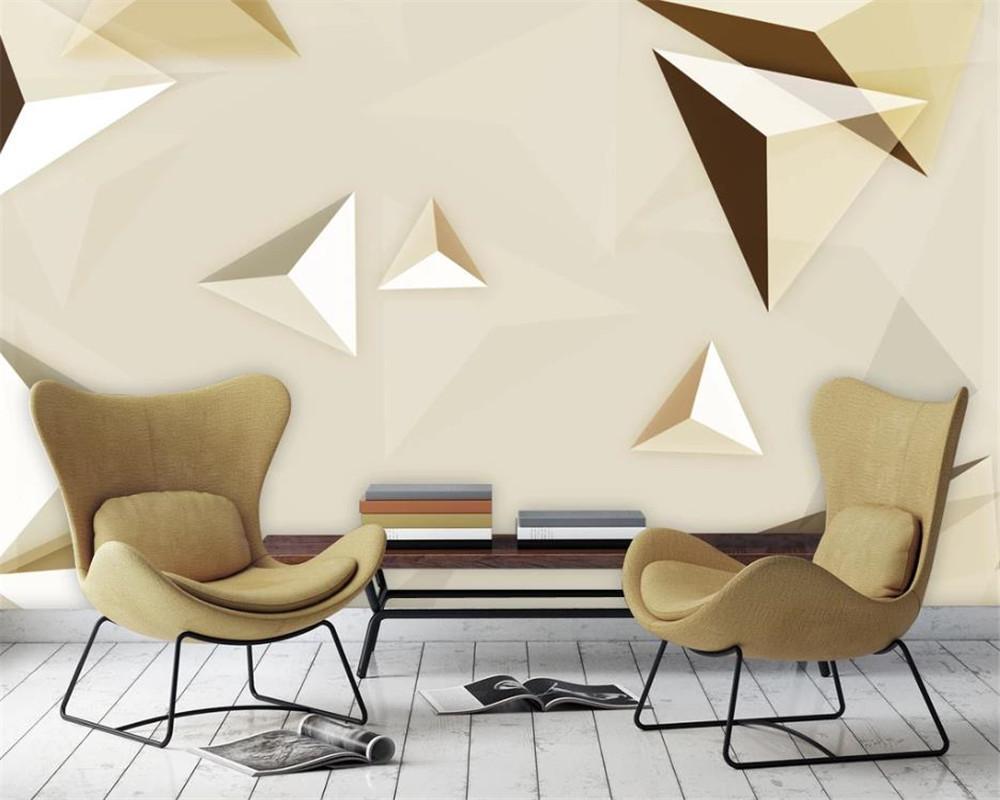 3D Wallpaper per Wallpaper Camera Bella moderna astratta geometrica Triangolo del modello TV parete di fondo della Seta murale