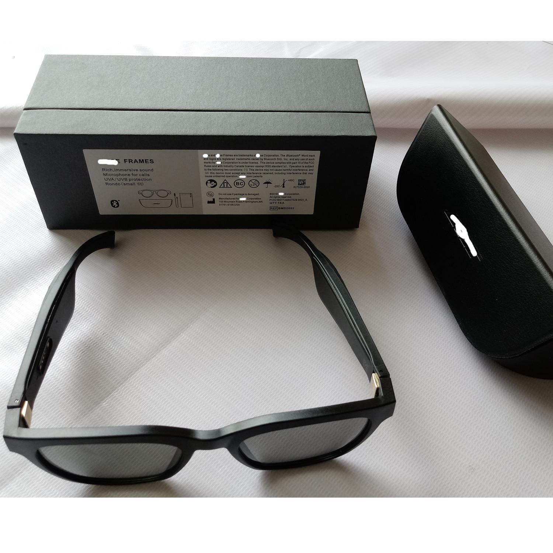 con gafas de sol de audio Böses marcos abiertos auriculares internos, Negro, con conectividad Bluetooth CH01