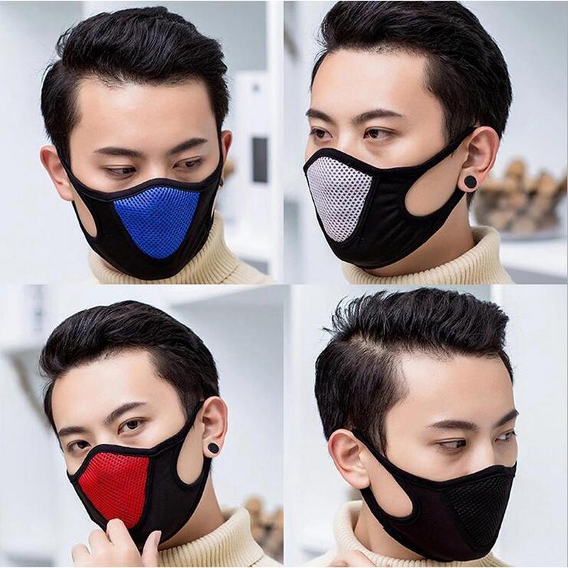 Nouvelle protection Visage Sport Masque adulte Couverture antipoussière Masques réutilisables Masques pleine anti-poussière élastique respirateurs populaire coton