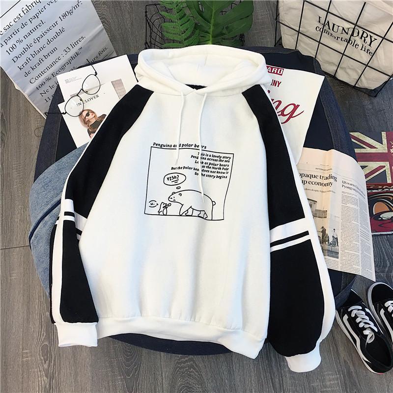 Autumu Nouveau Printemps Hoodied Femmes Mode Top Sweats à capuche manches longues Sweat-shirt coréenne Loose Women Hauts