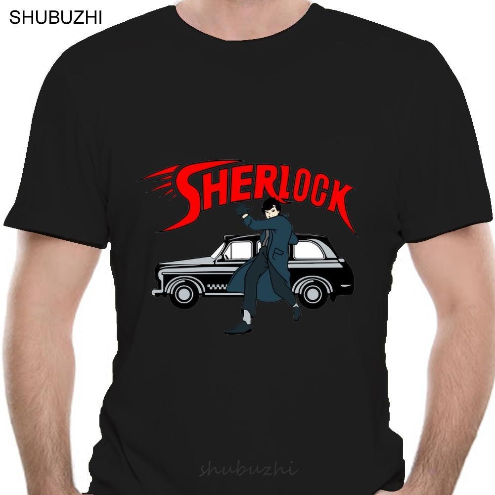 Men T Shirt Sherlock Gray Shirt Tshirts Women T-Shirt Cotton Tshirt Men Summer Fashion T-Shirt Euro Size