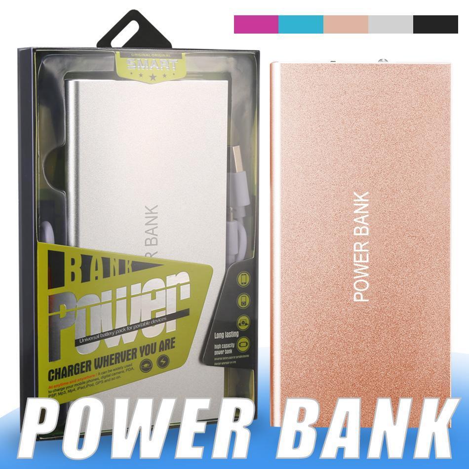 cgjxs reserva portable libro Power Bank 5000mAh móvil cargador de batería ultra delgada con doble USB Puertos Adaptador para Móviles Tablets Pc Ba externo