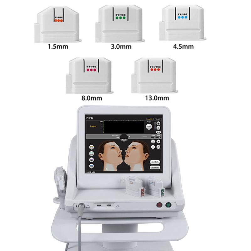 2020 Taşınabilir HIFU Ultrason Yüz Makinesi Anti-Aging Kırışıklık Karşıtı Cilt Sıkma Makinesi HIFU Kartuşları Salon Güzellik Ekipmanları