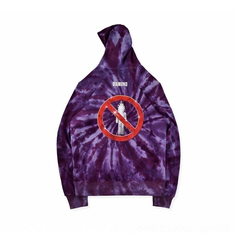 0jk3n GRjYI hop teñida púrpura Tie-dye gira de hip hop de Scott encapuchado teñido-TIE Travis púrpura cadera Tie-dye Travis capucha gira de Scott con capucha los H