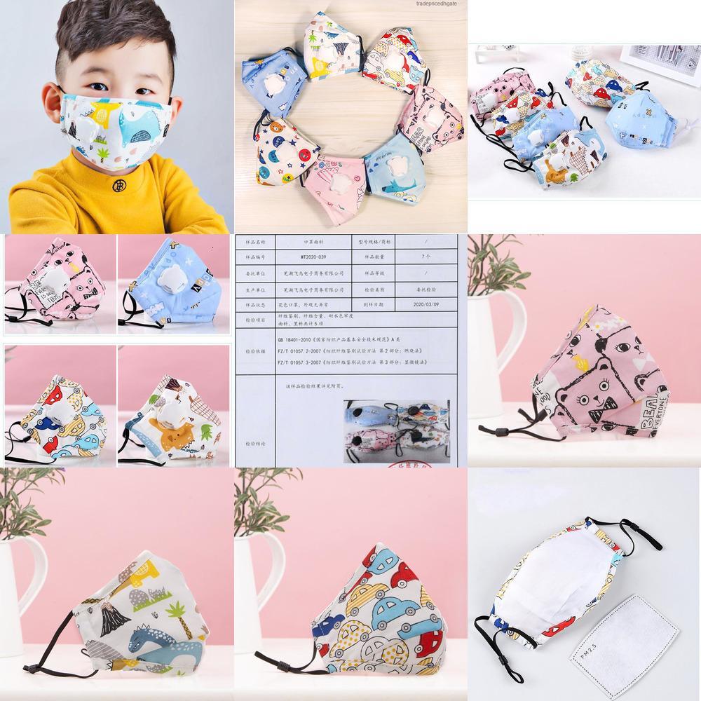 Cara de la historieta PM2,5 Niños Máscaras carbón activo del filtro del respiradero de la válvula anti Haze prueba de polvo de la máscara protectora del Xd23501