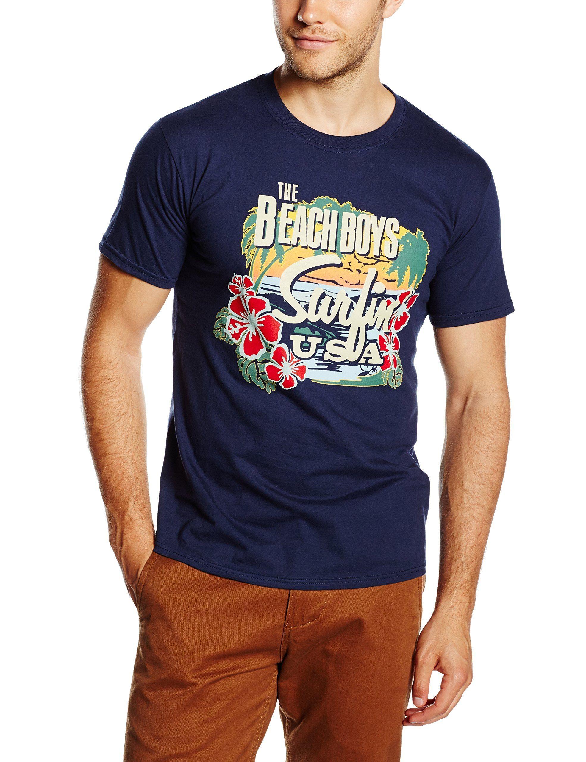 Os Homens Beach Boys Surfin EUA T-shirt