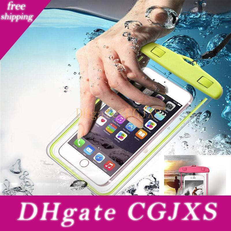 Bolsa impermeable Funda Universal para Iphone 7 X Xr Xs Samsung S10 S8 móvil resistente al agua bolsa en seco para el teléfono Bajo 6 0,0 pulgadas