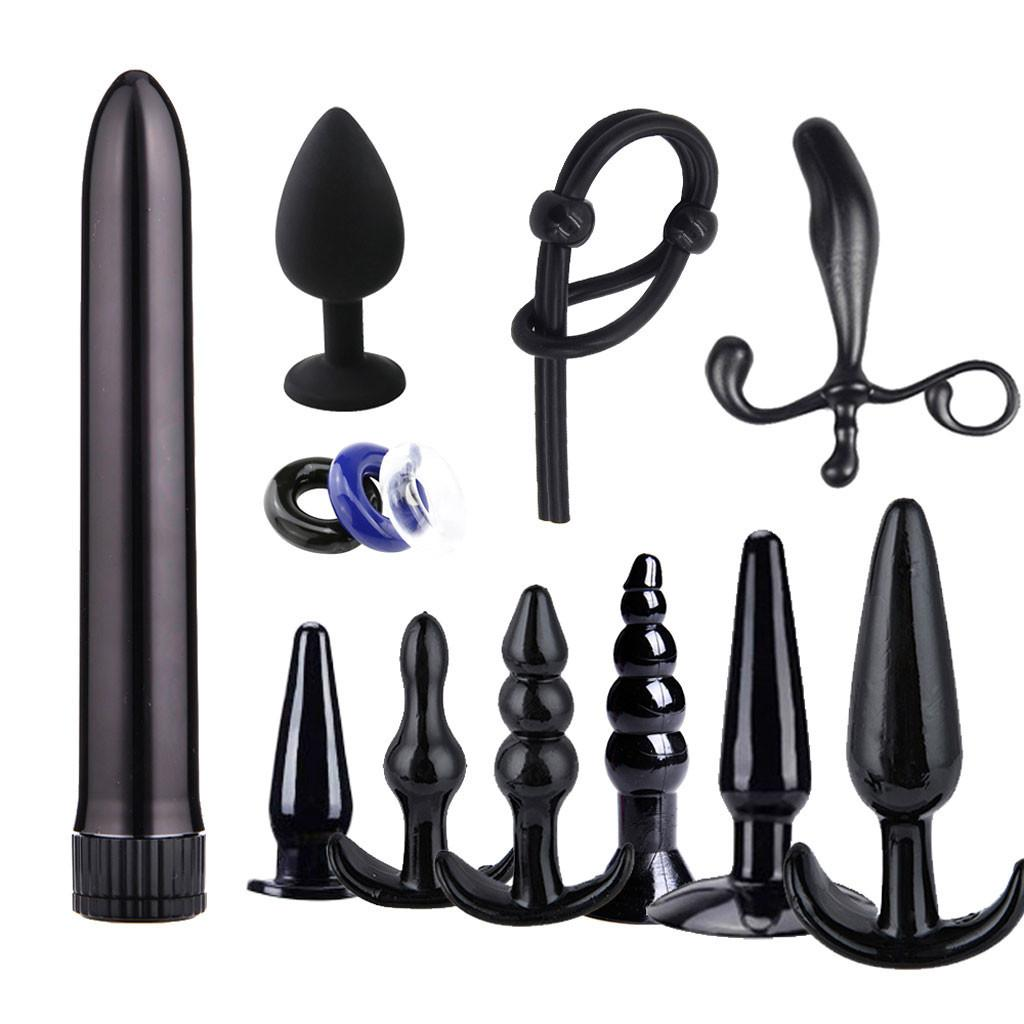 Anal Adult Diary Soft Silicone Butt Toys 7PCS Dildo Massaging Kit Vibrator Set Beginner Adult Sex Plugs Y200422 Men/Women For Mxfvm