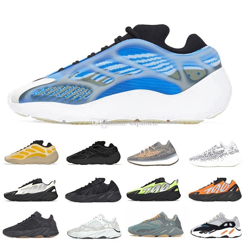 380 Azareth Srphym 700 v3 Kanye West Mens кроссовки Alvah Azael Светоотражающие Mist Синий ОАТ Мужчины Женщины Sports кроссовки Chaussures Zapatos