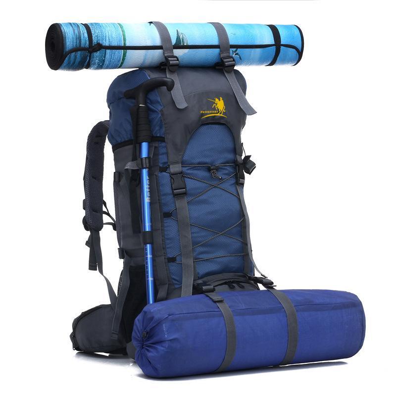 60L كبيرة تسلق الجبال المشي لمسافات طويلة على ظهره المشي لمسافات طويلة على ظهره حقيبة الظهر التخييم الرياضة في الهواء الطلق الظهر حقيبة للجنسين