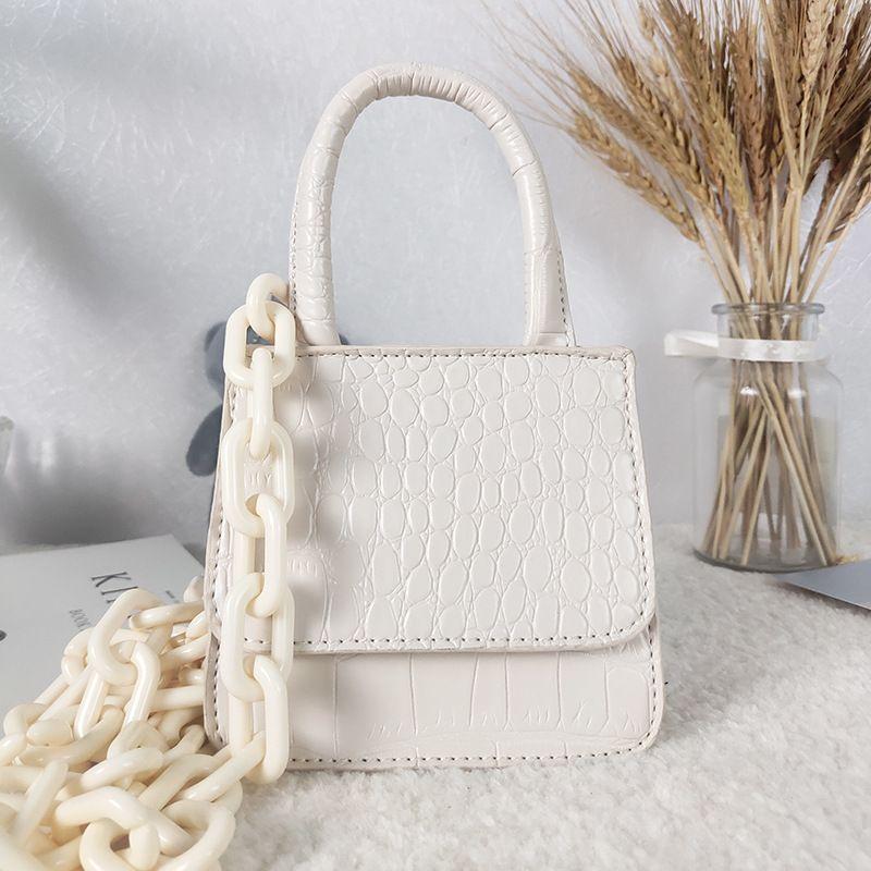 Laamei Mini маленький квадрат мешок 2020 Мода новое качество PU кожа Женская сумка год сбора винограда способа цепи плеча сумки