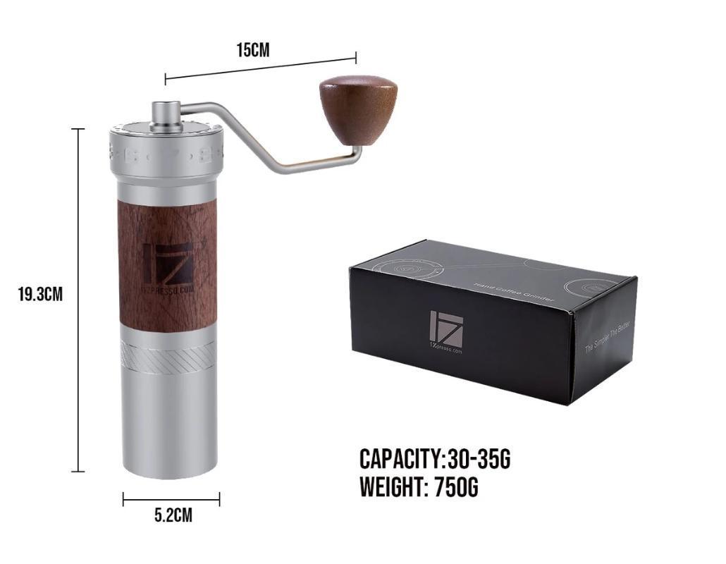 1 pc Nuovo 1zpresso K pro k bava macinino da caffè super-portatile caffè mulino di macinazione cuscinetto eccellente manuale recommed