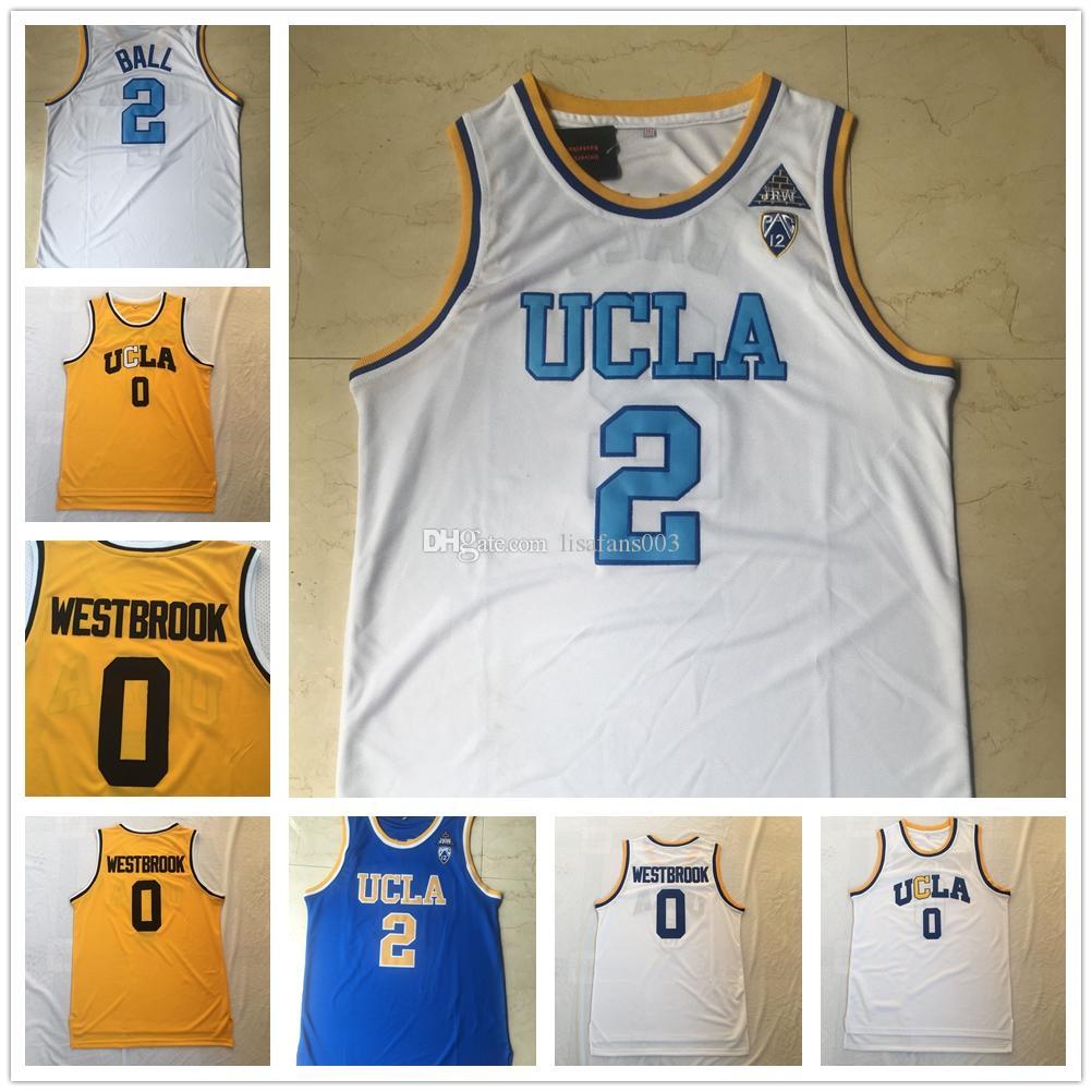 UCLA Брюинз Джерси Колледж Баскетбол Уэстбрук Lonzo Бал Лавайн Абдул-Джаббар Реджи Миллер Билл Уолтон Кевин Лав Синий