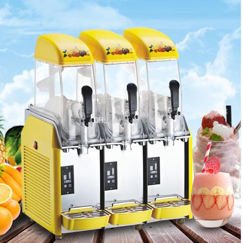máquina de derretimiento de la nieve vendedora caliente del cuerpo de acero inoxidable 220V 110V batido máquina de zumo a la venta a precios más bajos