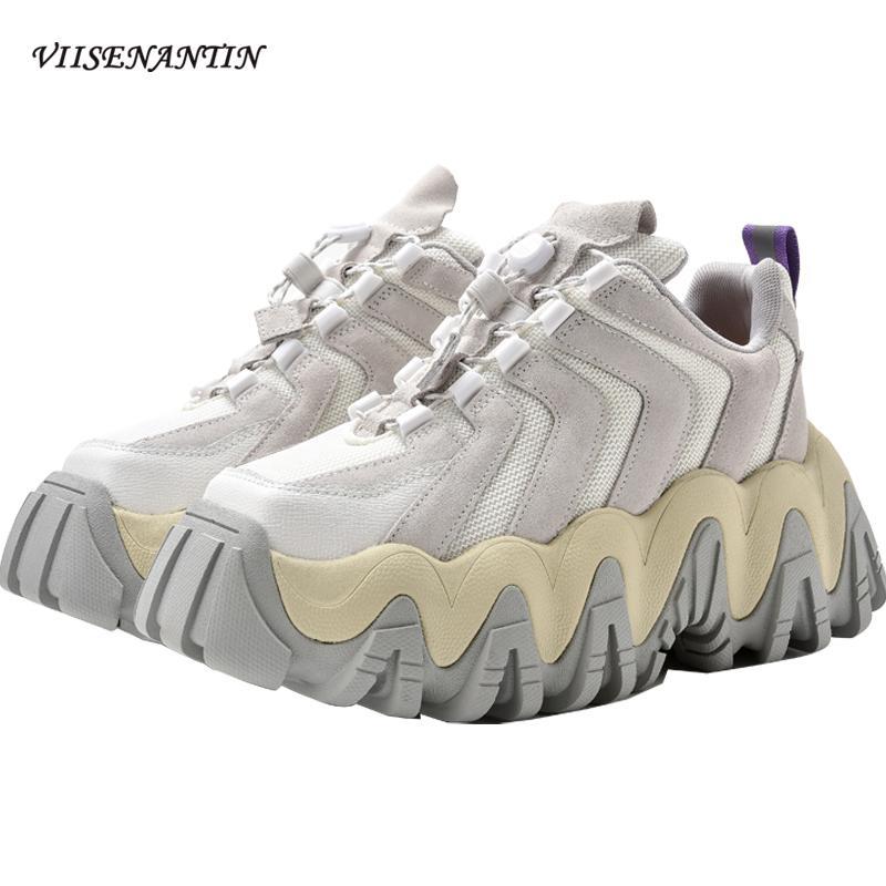 Yeni Moda Baba Ayakkabı Gerçek Deri Kartonpiyer Casual Dantel-up Yuvarlak Burun Katı İlkbahar Sonbahar Konfor Düz ayakkabılar Kadınlar Yürüyüş