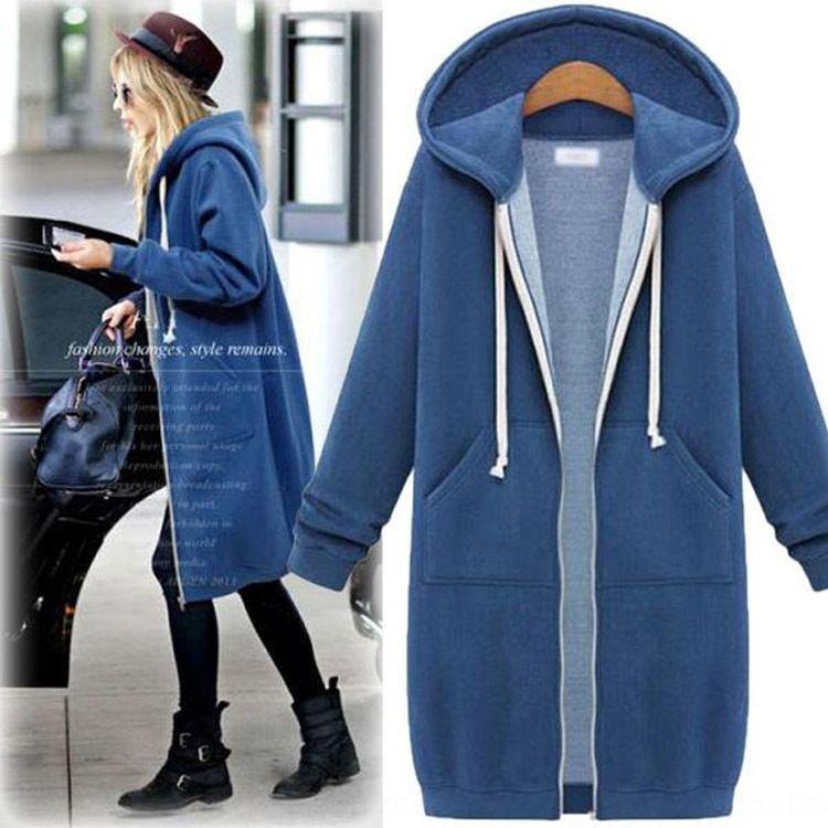 mm de gordura mais gordura coat plus extra outono grande tamanho do hoodie hoodie do Mid-comprimento estilo coreano casaco estudante solta de Mulheres 200 kg rbmV8