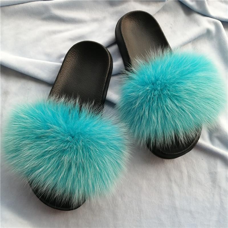 Pantofole da donna in pelliccia moda peluche infradito da donna estate sandali casual sandali indoor fluffy slides casa scarpe piatte