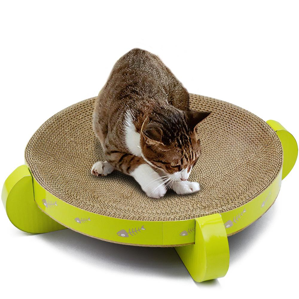 Chat en carton Scratcher Mat Scratch Lounge Lit Kitten Interactive Toy Cat Griffoir Pet Furniture Kitten Play House Supply