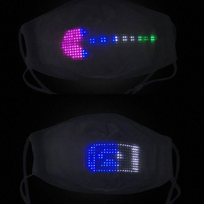 Máscaras brilhantes Máscara APP Carta Luminous Personalizar cara LED para o Halloween Festival partido do disfarce Rave Máscara DHF586 YkeP #