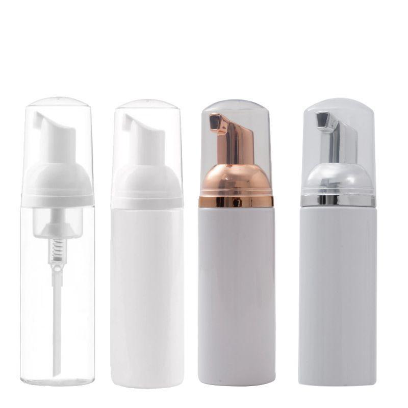 60ml Travel Foamer Flaschen leere Plastikschaum Flaschen mit Gold Pump Handwäsche Seife Mousse-Creme-Zufuhr Sprudeln Flasche EWD869