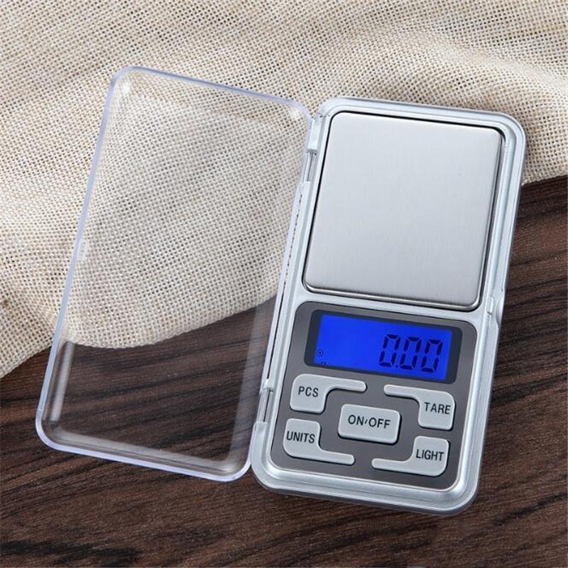 Мини портативный электронный масштаб 500 г Точные 0,01 г Ювелирные изделия алмазные весы Алмазные шкалы ЖК-дисплей с розничной упаковкой