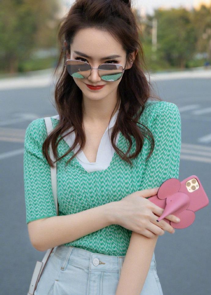 SA5dV Qi Wei 2020 misma tapa del collar corto superior de la manera delgada del verano prendas de punto de seda del hielo protector solar de las mujeres de la manga de los géneros de punto nuevo del POLO