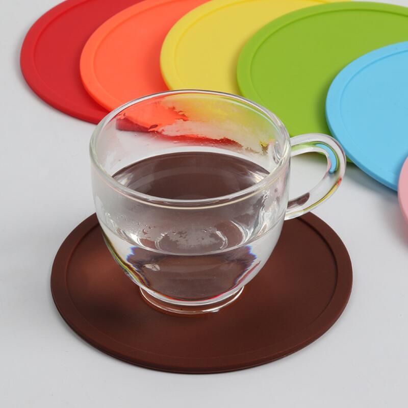 Fedex silicone pads Coaster-copos absorvente de humidade para evitar danos tabela a partir do zero para qualquer derramamento de tipo tabela LX3358