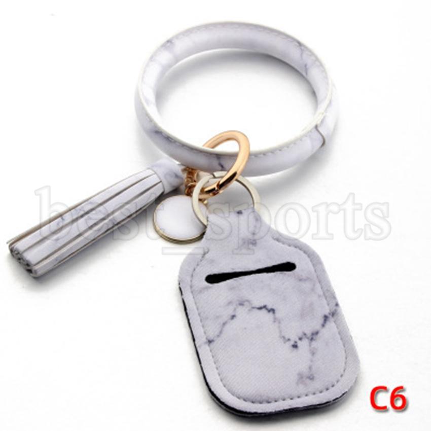 Neoprene Hand Sanitizer Bottle Holder Keychain Bags Key Rings Soap Bottle Holder PU Bracelet Leopard Chapstick Holder Party Favor CYZ2717
