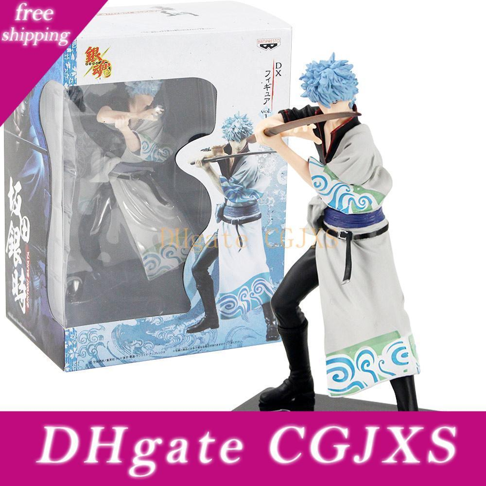 18cm Action Figure Gintama Silver Soul Sakata Gintoki Pvc Cartoon Gift Brinquedos Toys Decoration Collectible Model
