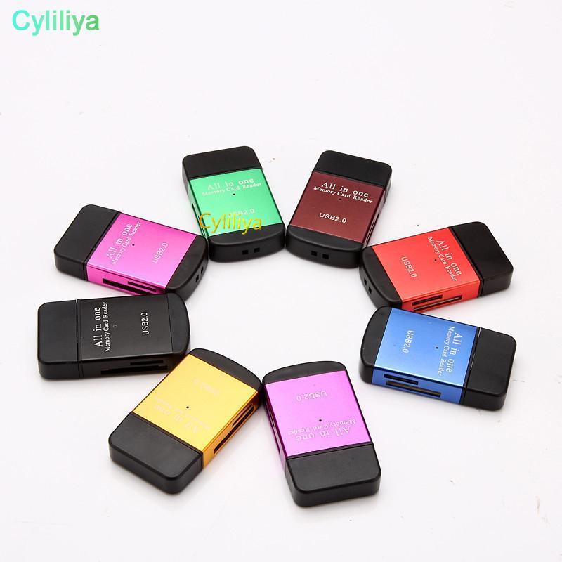 cgjxs todo en uno USB 0.0 2 tarjeta de memoria multi lector de memoria para micro SD / TF M2 SDHC MMC Sra pértiga de todo el mundo (Hl)
