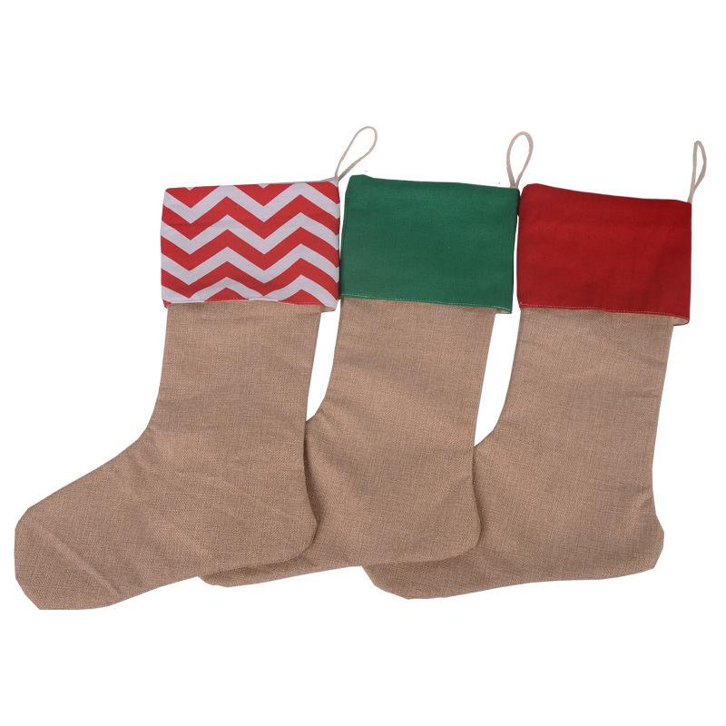 30*45cm Christmas Stockings Gifts Cloth Socks Xmas Calcetines Lovely Candy Muffin Gift Children Fireplace Tree Decoration Christmas Socks