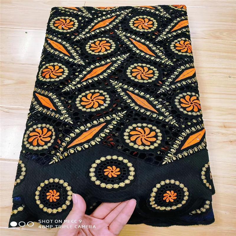 estilo popular de 5 yardas de tela de encaje suizo últimas bordado de encaje en seco telas de alta calidad africanos suizo del cordón de Dubai 3L062705