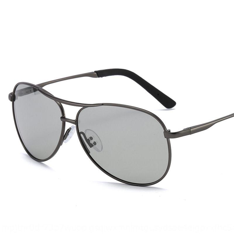 8013 novo sol cor-mudando óculos de sol polarizados colorido rua tiro da forma trendsetter-piloto das mulheres 2020 homens óculos de sol AcFHG