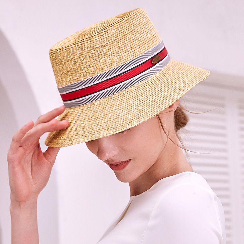 Sedancasesa Элегантная летняя соломенная шляпа для женщин больших Брим шторкой ВС Шляпы Beach Vacation Шляпы Visor Caps