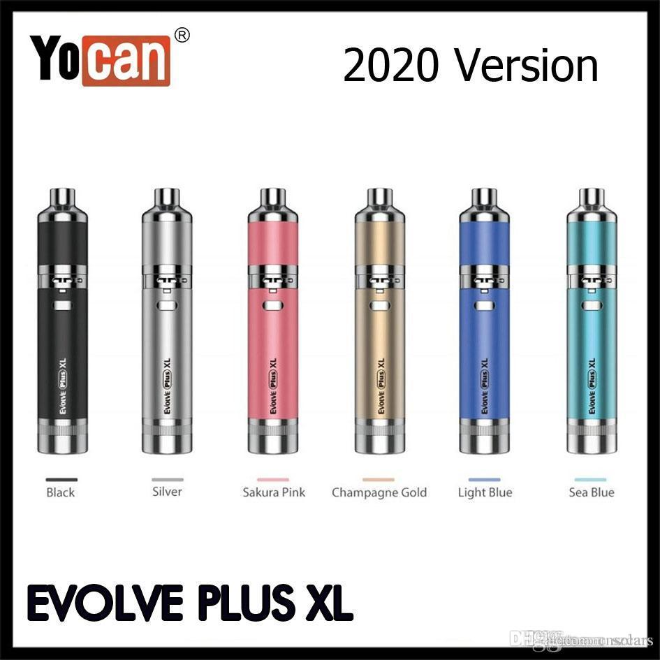 Otantik Yocan Evolve Artı XL Wax Kalem 2020 Versiyon 1400mAh Vape Kalem Başlangıç Seti Silikon Kavanoz QQC% 100 Orijinal ile