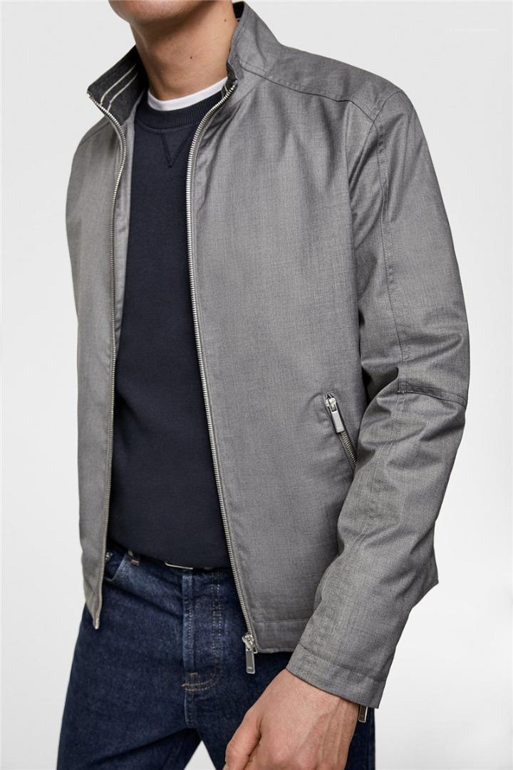 Casual-Jacke Reißverschluss Männer nehmen Mäntel Herren Designer Luxus Jacke Fashion Langarm Stehkragen
