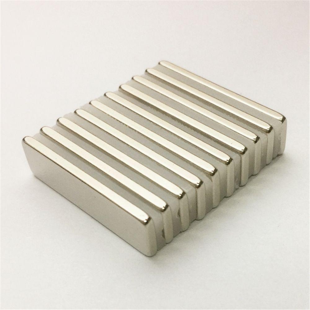 10pcs Materiales magnéticos Bloque 30x8x2mm N48 Super Strong Potente imán de neodimio Cuboide Bloque Imán raras imanes de neodimio tierra Craft