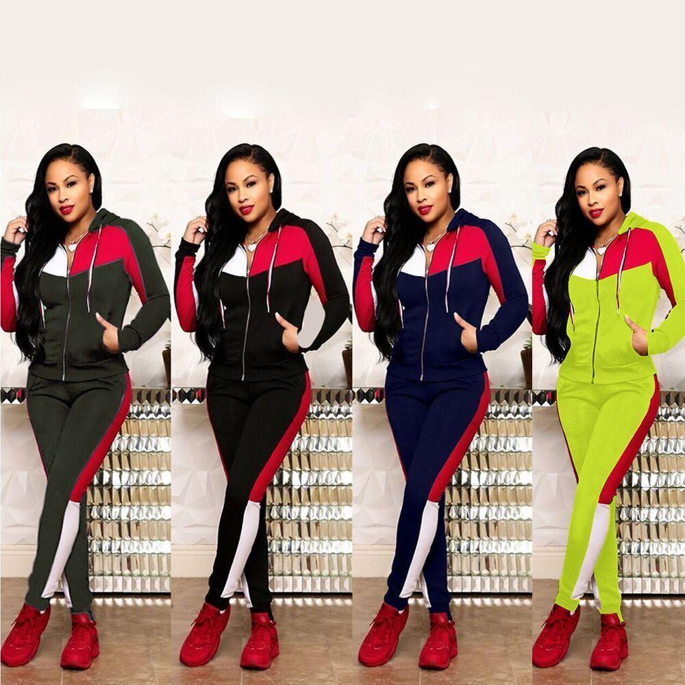Designer tuta tute le donne di lusso di marca delle donne autunno Stampa Tute Jogger Abiti Giacca + pantaloni insiemi di sport Suit DHL