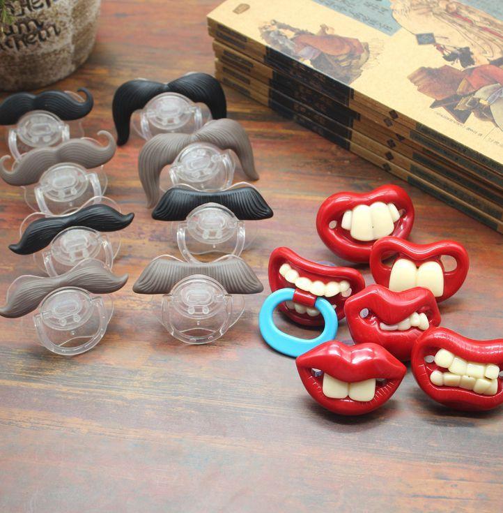 Bebê Chupeta engraçado brinquedos bonito do bigode chupeta para bebês e crianças de conforto Mamilos Chupeta 14 estilos KKA8014