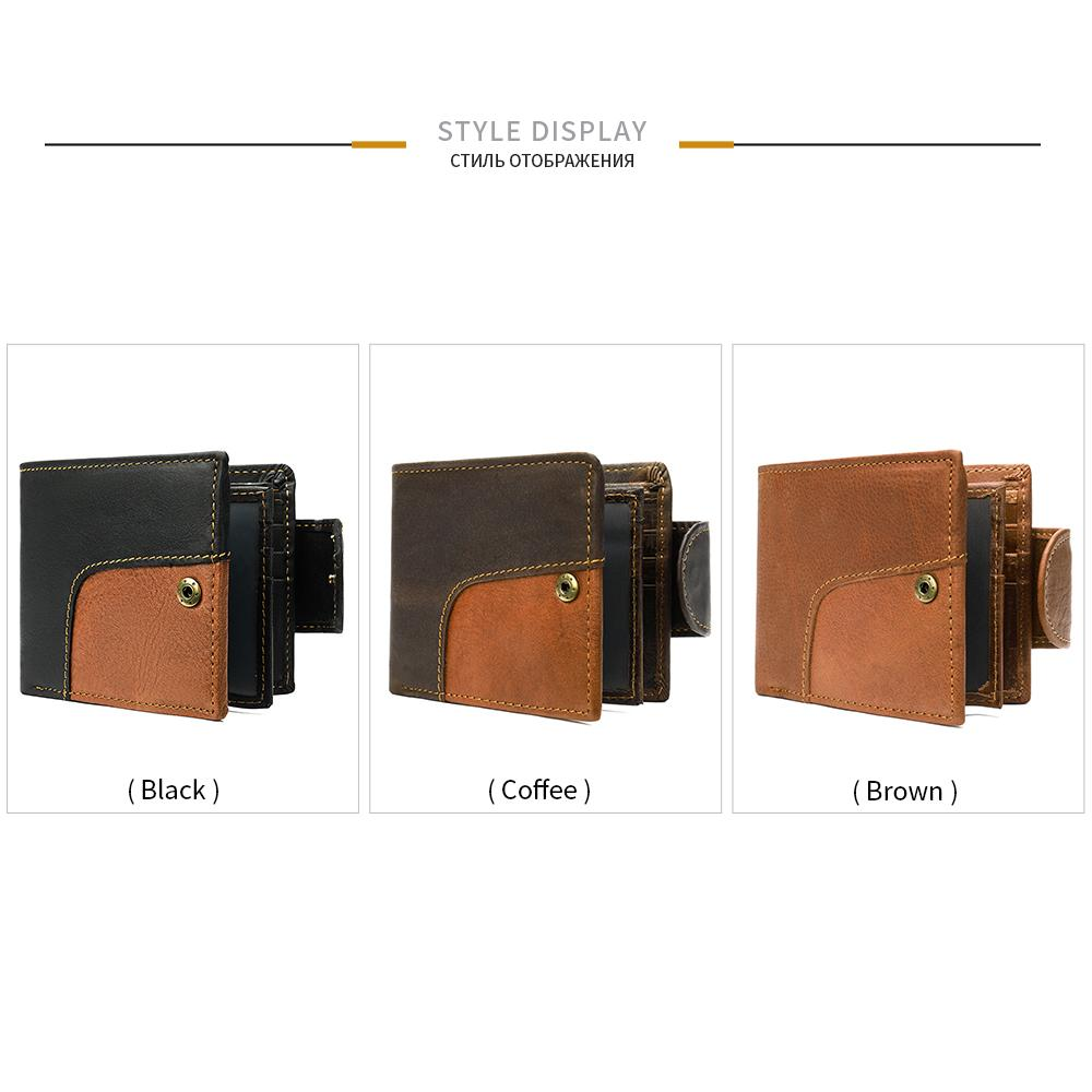 BIFOLD Multifunktionale Geldbörse Münze Mens PU Wallet Kurze Vintage Designer Beutel Karten Brieftaschen Luxus Männer Brieftasche Leder Eidcx