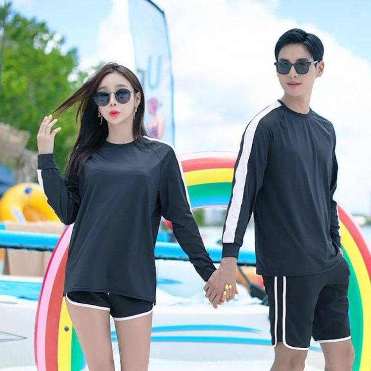 B4wPY Tgfmh 2020 nuova coppia stile coreano nuotare nuotare Scafandro vestito casual-a maniche lunghe sciolto cappotto dimagrante Diving Snorkeling meduse