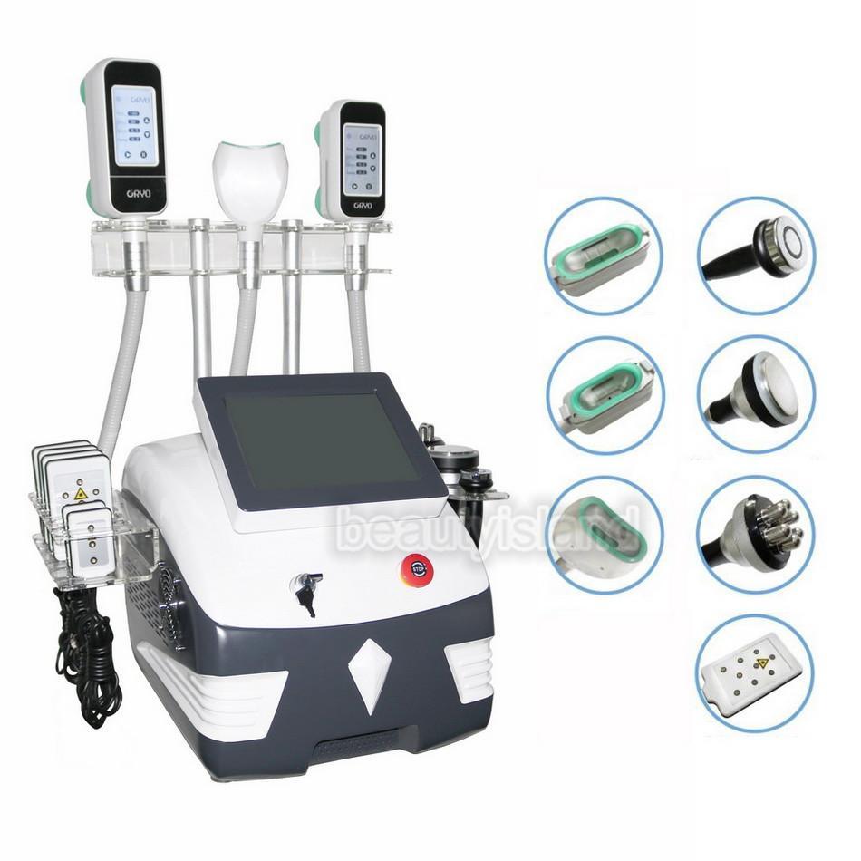 다기능 Cryolipolysis 지방 동결 기계 Lipolaser Cryotherapy Lipo 레이저 초음파 Cavitation RF 슬리밍 기계