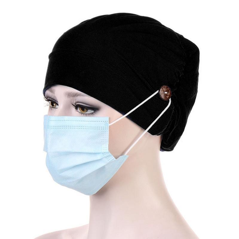 Cap Cabeza Hijabs turbante de tela elástica del sombrero Señoras Accesorios para el cabello Las mujeres de algodón de las nuevas mujeres Breathe casquillo del sombrero de la bufanda musulmán