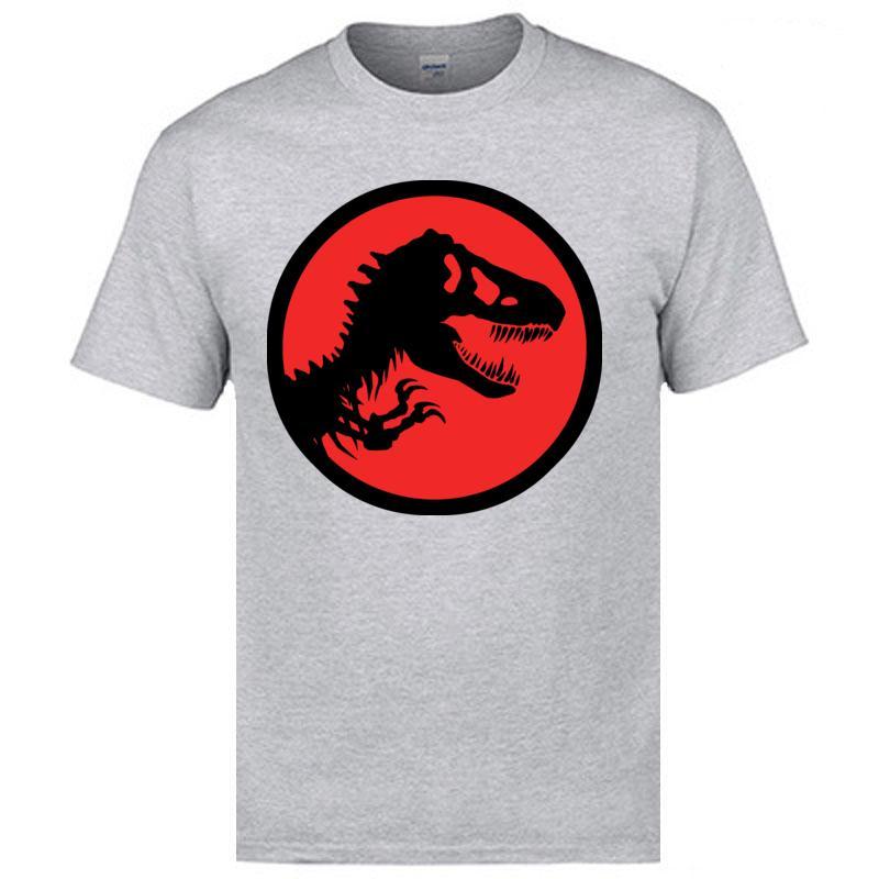 Jurassic Park T-shirt homme gris rouge classique de la mode T-shirt surdimensionné Vêtements Qualité fine shirt 2018 Trendy populaires T-shirts