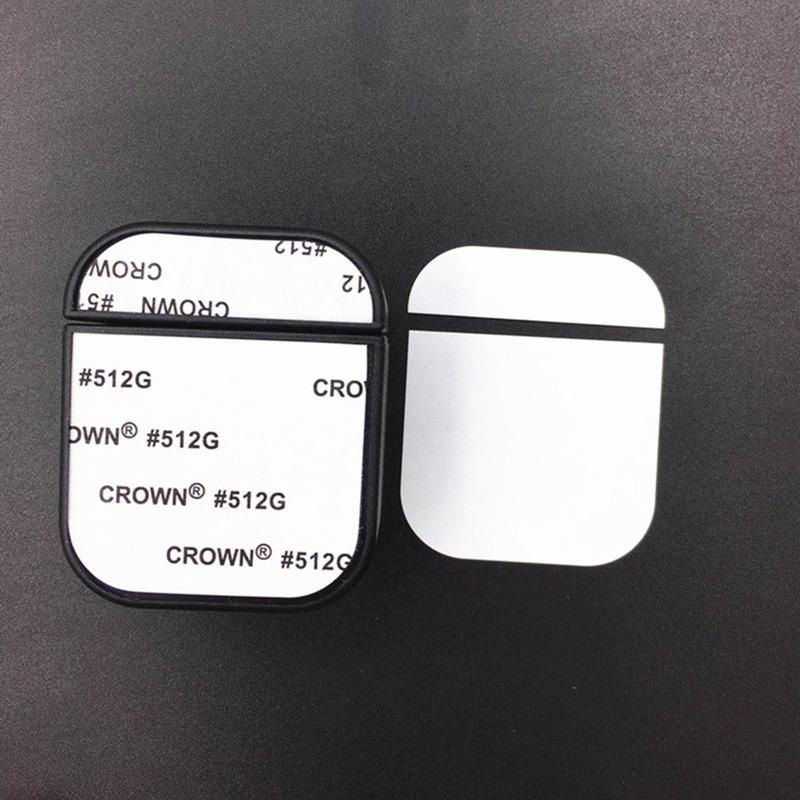 حالة التسامي فارغة ل Apple AirPods 1 2 برو سماعات لاسلكية غطاء من البلاستيك الصلب مع لوحة الألومنيوم القابلة للطباعة