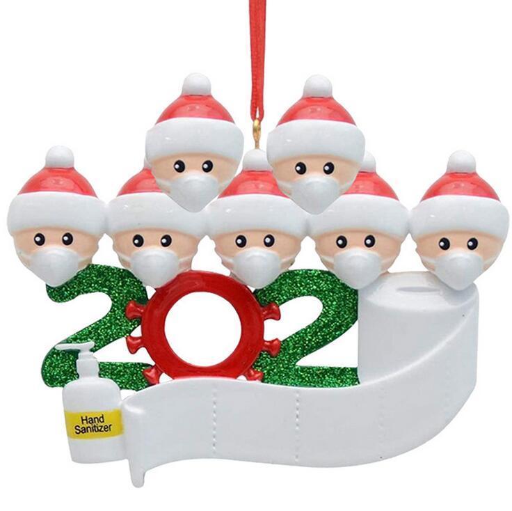 نجا 2020 جديد DIY الحجر عيد الميلاد الديكور حزب زخرفة الأسرة سانتا كلوز اللعب مع قناع شخصية شجرة عيد الميلاد زخرفة XG83A