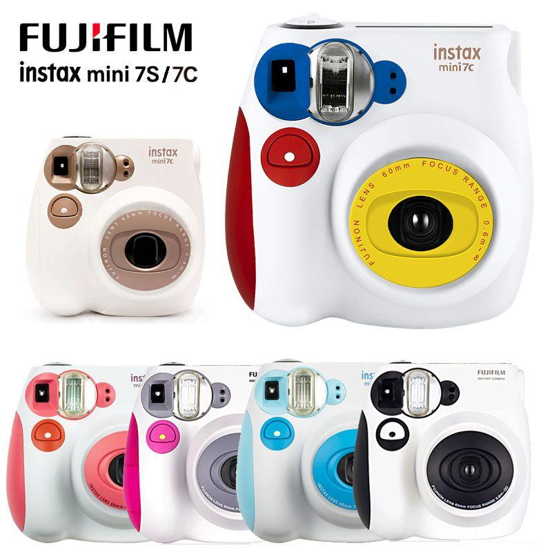 Новый красочный Fuji Instax Mini 7C 7s Мгновенная камера Мини-фильма Фотография печати Снимок съемки Polaroid Камера Рождения камеры